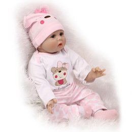 rubber latex dolls Australia - 55cm Soft Body Silicone Reborn Baby Doll Toy for Girls NewBorn Girl Baby Birthday Gift To Child Bedtime Early Education Toy Accessories