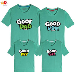 f13cb812 good quality 1PCS Good Dad Mom Boy Girls Family Matching T-shirts Summer  Father Mother Son Daughter Clothing Clothes kids Children