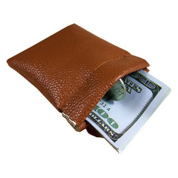 Little Coins NZ - New Fashion Solid Pu Leather Coin Purse Women Men Small Mini Short Wallet Bags Change Little Key Card Holder Black Business