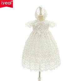 christening clothes for girls UK - Iyeal 2018 New 1 Year Birthday Baby Girl Dresses For Baptism Infant Princess Lace Christening Gown Newborn Toddler Bebes Clothes Y19061001