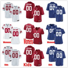 6e136d735 Custom New York #56 Lawrence Taylor 10 Eli 26 Saquon Barkley 87 Sterling  Shepard 88 Evan Engram Men Women Kids Youth Giants Stitched Jerseys