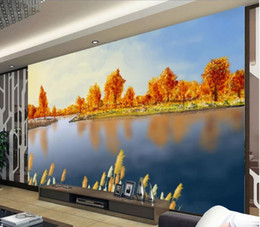 beautiful oil painting for bedroom 2020 - modern wallpaper for living room Beautiful landscape oil painting mural background wall cheap beautiful oil painting for