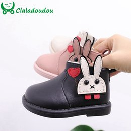 fashion boots for boys Australia - Claladoudou 12-14cm Brand Cute Cartoon Baby Girls Winter Fashion Boots Rabbit Toddler Girl Ankle Boots For Winter Waterproof T191104