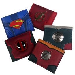 $enCountryForm.capitalKeyWord Australia - new arrival 2018 New Design Comic captain marvel The Flash Superman Deadpool Bi-Fold Wallet ID window Credit card slot #124583
