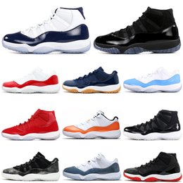 RetRo 11s black Red online shopping - Bred Concord s air jordan retro basketball shoes Cap and Gown Orange Trance Snakeskin women mens trainers Sport Sneakers