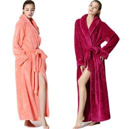 ef12e3a740 Sexy Men Women Long Bath Robe Bathrobe Coral Velvet Pajamas Body Spa Bath  Super Absorbent Gown Quick-dry Bathroom Towel