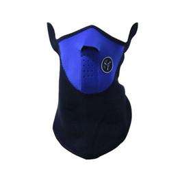 Half Covered Face Masks Australia - Winter Warm Fleece Balaclavas Ski Cycling Half Face Mask Cover Outdoor Sport Windproof Neck Guard Scarf Headwear Neoprene Masks drop ship