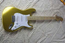 electric guitars custom green 2019 - Best Custom Shop Maple fingerboard Master built 59 Gold Sparkle F Stratocaster Electric Guitar Free Shipping 15-9 discou