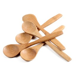 Under kitchen online shopping - New arrival Handmade Bamboo Spoons Honey Spoon Baby Spoons cm cm Home Camp Kitchen Mini Spoons ZZA1534