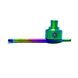 gr2 dab tool UK - Colorful gr2 Titanium Carb Cap Domeless Titanium Nail with hexagram mark Dabble On top One Angled Hole Titanium Carb Cap Dab Tools
