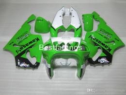 Kawasaki Zx7r Green Australia - 7 free gifts fairing kit for Kawasaki Ninja ZX7R 96 97 98 99 00-03 green white fairings kits ZX7R 1996-2003 TY29