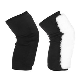 warmest thermal socks UK - Winter Warm Knee Protector Wool Leg Hose Warmers Kneecap Prevent Arthritis Woolen Thermal Knee Socks (M)