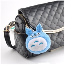 wool cloth soft Australia - 2Color Mini MY NEIGHBOR TOTORO Cartoon Soft Stuffed Plush Kawaii Bag Xmas Gift Handbag Pendant Animal Caterpillar Cloth Doll 9cm
