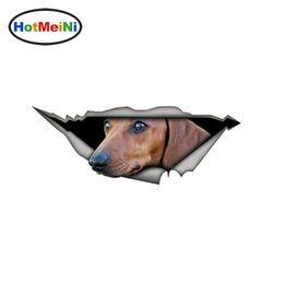$enCountryForm.capitalKeyWord Australia - wholesale 20pcs lot Tan dautchund 3D Car Stickers Pet Dog Vinyl Decal Creative Modified Waterproof Car Styling Decoration 15cm x 6cm