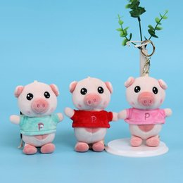 Discount pig holders - Cute Aroma Pig Keychain Key Ring Holder Hanging Decor Soft Plush Animal Doll New Hot