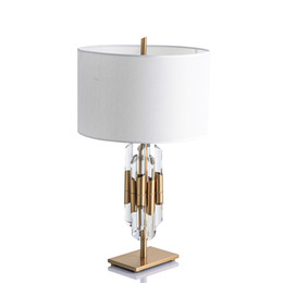 gold table lamp crystal Australia - Modern Nordic Gold Crystal Glass Bedside Table Lamps For Pedestal Table The Bedroom Living Room Home Deco