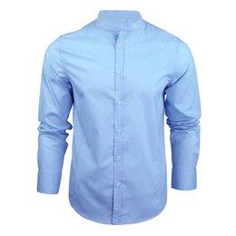 plus size white button down shirt 2019 - ISHOWTIENDA Summer Men Shirt Long Sleeve Casual Mens Shirts Slim Plus Size Men Shirt Button Solid 3XL Chemise Homme chea