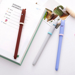 $enCountryForm.capitalKeyWord Australia - 1PCS New Cute Korean Creative Animal Expression Cap Gel Pens For Kids Novelty Gift Stationery School Supplies