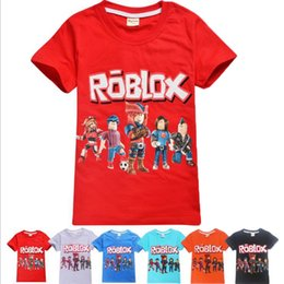 $enCountryForm.capitalKeyWord Australia - 6-14 Big girl t-shirt summer ROBLOX print short sleeve tops 100% cotton boutique kids t-shirt wholesale
