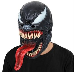 Spider Man Spiderman Mask Australia - Spider-Man The Venom Mask Black&Red Cosplay SpiderMan Edward Brock Dark Superhero Venom Latex Masks Helmet Halloween Party Props