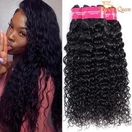 Queen cheap human hair online shopping - 3 bundles Indian Virgin Hair Water Wave Cheap Indian Water Wave Human Hair Extensions Gaga Queen