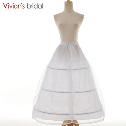 $enCountryForm.capitalKeyWord UK - Vivians Bridal 3 Hoop Underskirt Bridal Accessories A-Line White Wedding Dress Petticoat Women Lace Up Bridal Dress