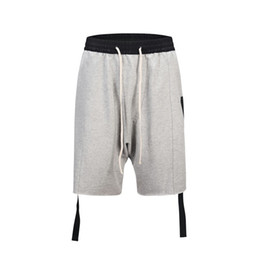 China Dear2019 Trendy A Male Fog Kanye Leisure Time Drop-crotch Shorts Blue Street Dance Pants supplier pants short crotch suppliers