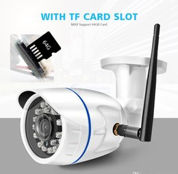 wholesale home security camera UK - HD 1080P Wireless IP Camera WIFI Outdoor ONVIF CCTV Video Home Security Bullet Camera TF Card Slot Night Vision APP CamHi DHL