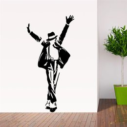 $enCountryForm.capitalKeyWord Australia - forever King of Pop Michael Jackson wall stickers music fans room decoration 8489. vinyl adesivo de paredes home decals art 3.5