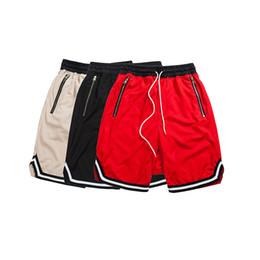 Baggy jersey pants online shopping - Color Contrast Drop Crotch Hip Hop Mens Shorts Summer Hip Hop Baggy Shorts Men Breathable Jersey Material Shorts Cotlors Y19043003