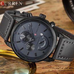 Luxury Fashion Brand Quartz Watch Australia - Men's Fashion Casual Sport Quartz Watch Mens Watches Top Brand Luxury Leather Drop Shipping Wristwatch Male Clock Curren 8217 Y19051302