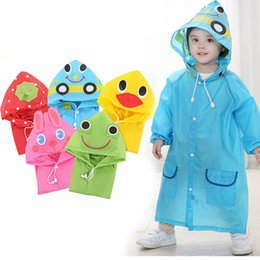 Children Animal Coats Australia - 1PC Cartoon Animal Style Waterproof Kids Raincoat For Children Rain Coat Rainwear Rainsuit Student Poncho Drop Shipping