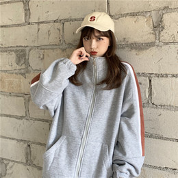 japanese clothes sweatshirt Canada - Women's Sweatshirts Japanese Harajuku Ulzzang Casual Loose Lazy Retro Ins Sweatshirt Female Korean Kawaii Clothing For Women
