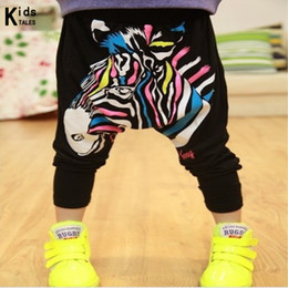Zebra Print Girls Pants Australia - RK-062 Retail 2018 New Arrival Boys And Girls Modal Zebra Pants Infants Harem Trouser Cute Kids Loose