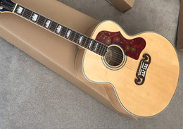 Top acousTic guiTars online shopping - Custom Shop Burlywood Quality AAA Solid Spruce Top Venner Tiger Flamed Maple Sides Back Acoustic Guitar
