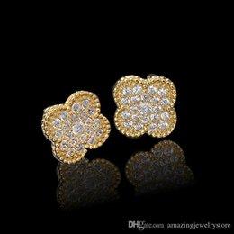 Marca de topo brinco flor com diamante e brinco em 1.4 cm mulheres brinco de presente de jóias de alta qualidade PS6673 venda por atacado