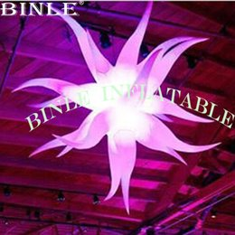inflatable for event party decoration Australia - Fashionable 2.5mD giant bend inflatable star with color changeable led light inflatable hanging balloon for party,event decoration