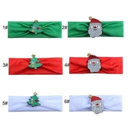 Teenage girls gifT online shopping - Baby Kids Elastic Christmas Stretch Headband girls Santa Claus Xmas Tree Hairbands Infants Hairband Hair Band Headwear Christmas Gifts