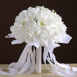 $enCountryForm.capitalKeyWord Australia - Simulation foam rose bouquet fake flower bride holding flowers wedding decoration living room bedroom floral decoration