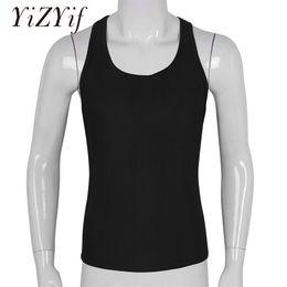 Vest racer back online shopping - Mens vest tank tops gym workout sports fitness Tank Top Sleeveless Racer Back Pullover Vest Undershirt Top Shirt Waistcoats