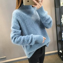 2018 Warm Mink Cashmere Soft Sweaters and Pullovers Women Autumn Winter  Sweater Turtleneck Sueter Mujer Pull Femme pullover Tops FS5703 Sold 9b1510287