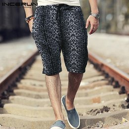 $enCountryForm.capitalKeyWord Australia - Leopard Print Mens Casual Shorts Drawstring Streetwear Loose Breathable Fashion Knee Length Shorts Men Bermuda 2019 5XL INCERUN