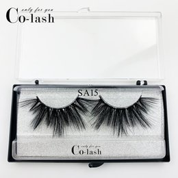 custom eyelashes Australia - Colash New arrivals 3D mink lashes plastic black box SA15 custom handmade eyelashes packaging own logo