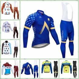 $enCountryForm.capitalKeyWord Canada - 2019 AG2R Aqua Blue Aqua Protect Veranclassic team Cycling long Sleeves jersey (bib) Long pants sets Breathable Mountain bike racing sport c