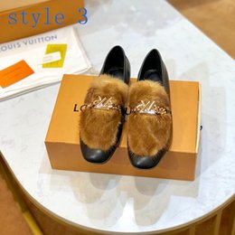 woman shoe mink NZ - Hot sell Fashion Brand Design New women shoes casual loafers with mink hair catwalk shoes women fur sandals luxury women dress shoes