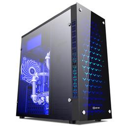 Yemei X8 Черный Настольный корпус Dual USB 3.0 / 2.0 Интерфейс Strong Тепловыделение Прозрачный 3 вентилятора ATX PC Gaming Tower Case на Распродаже