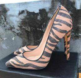 $enCountryForm.capitalKeyWord Australia - brown Horse hair Single shoes Cusp Fine heel Women's high heel shoes 8cm 12cm 10cm large size 44 wedding banquet nightclub Red bottom shoes
