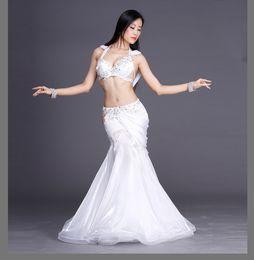 $enCountryForm.capitalKeyWord Australia - Rhinestones crystal belly dance suits!women performance show belly dance set senior 2pcs handmade satin set