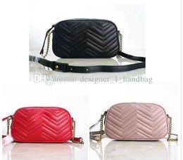 $enCountryForm.capitalKeyWord NZ - Camera bag 2019 luxury handbags high quality designer famous chain bag new wave pattern metal letter shoulder bag