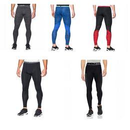 Acrylic Leggings Australia - Men Sports Compression Tight U&A Quick Dry Leggings Running Training Base Layer Stretch Pants Slim Skinny Jogging Gym Trousers M-2XL C42401